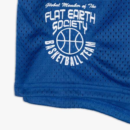 Cold World Frozen Goods Flat Earth Basketball Team Champion Shorts - Blue