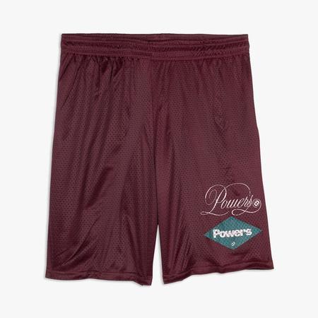 Powers Diamond Script Mesh Shorts - PURPLE
