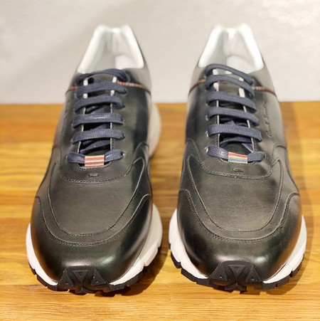 Paul Smith Tristan Signature-stripe Calf Leather Trainers - Navy
