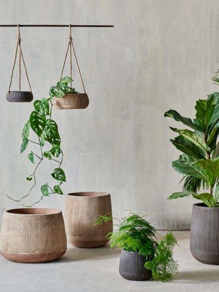 Nkuku Wampu Medium Wide Planter - Brown/Black