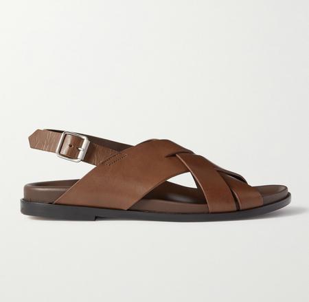 PAUL SMITH Chandler Leather Sandals - DARK BROWN