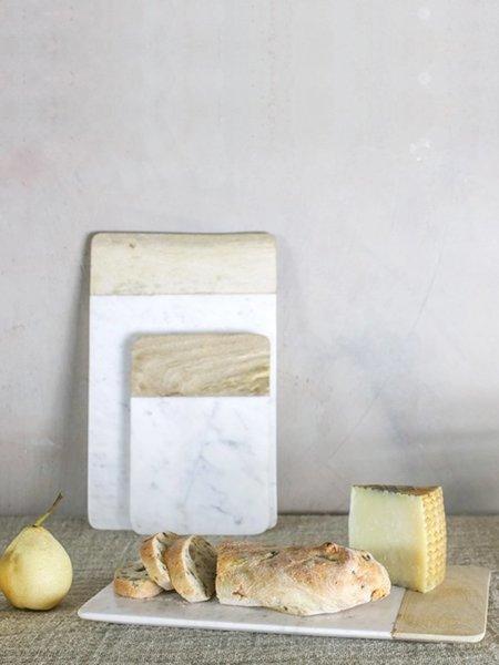 Nkuku Large Bwari Long Marble Board - White/Mango