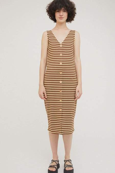 Rita Row Damaris Dress - Brown Stripes