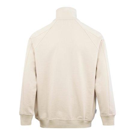 Parlez Carter Jersey Zip Through Sweatshirt - Ecru