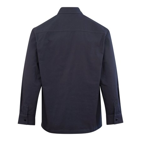 Parlez Catalina Cotton Ripstop Overshirt - Navy