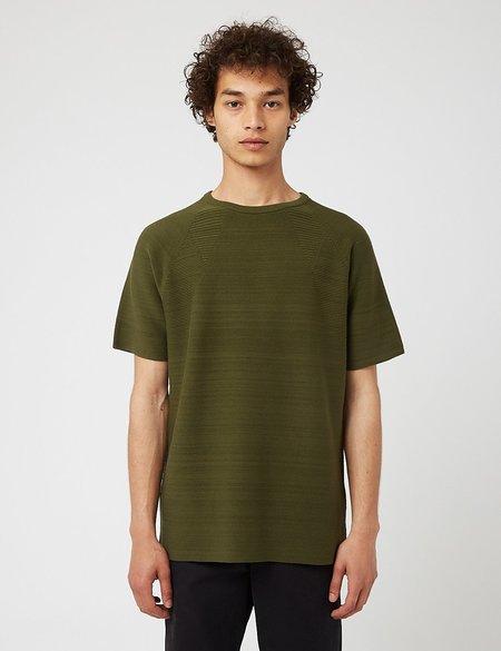 Snow Peak WG Strecth Knit T-Shirt - Khaki Green