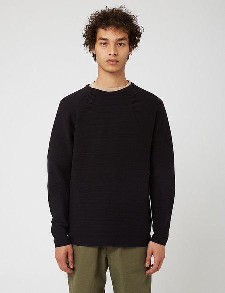 Snow Peak WG Stretch Knit L/S Pullover - Black