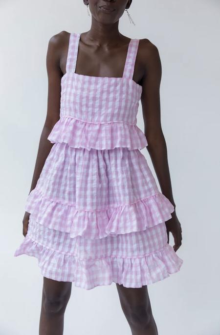 Tach Clothing Amaral Cloque Ruffled Dress