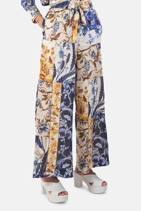 Zimmermann Aliane Draw Pants - Pathcwork Floral