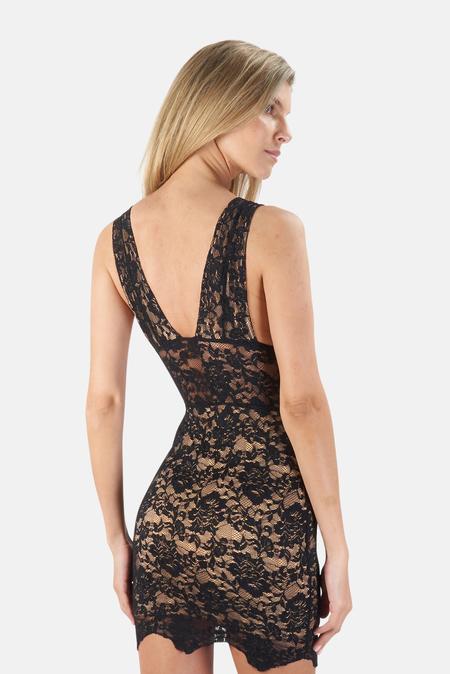 Nightcap Decollete Mini Bodycon Dress - Black