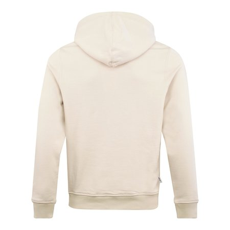Parlez Faded Embroided Logo Hoodie sweater - Ecru