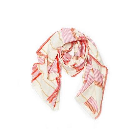 Princesse & Dragon Sutton Cotton Jacquard Scarf - Pink/Tangerine