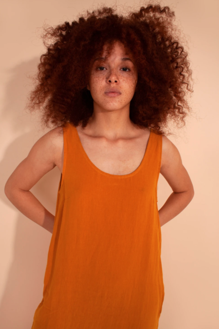 L.F.Markey Basic Linen Dress - Saffron