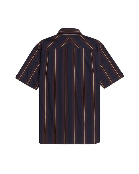 FRED PERRY Stripe SS M1572 Shirt - Navy 608