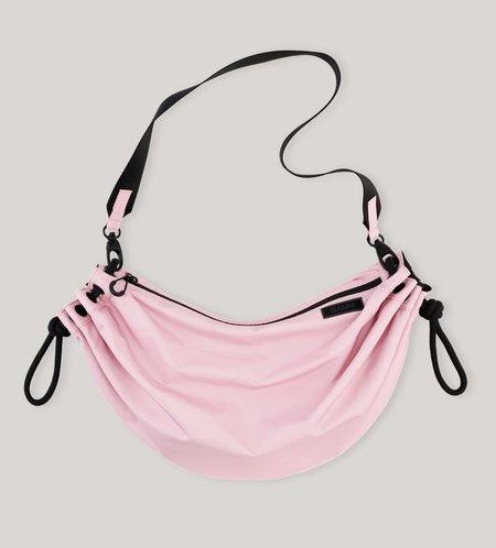 Ganni Seasonal Recycled Tech Drawstring Shoulder Bag - Pink Nectar