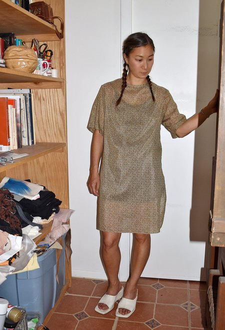 This Woman's Work Minimal Extended Tee - Printed Voile