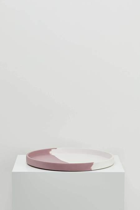 Capra Designs LARGE EVEN STEVEN TRAY - White/Brown