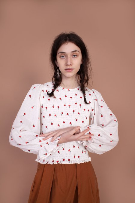 Meadows Aloe Shirt - Red Rose