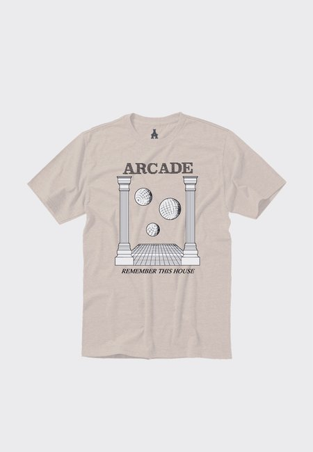 ARCADE Remember This House T-Shirt - cream