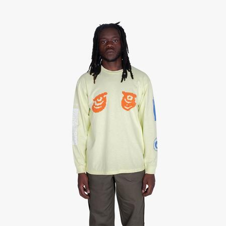 Mister Green Aquarian Collage L/S Tee - green