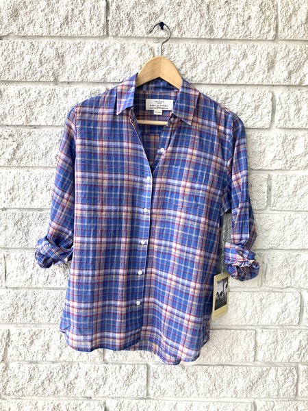 Trovata Grace Classic Shirt - Montauk Plaid