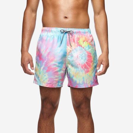 Boardies Mid Length Swim Short - Spiral Tie Dye