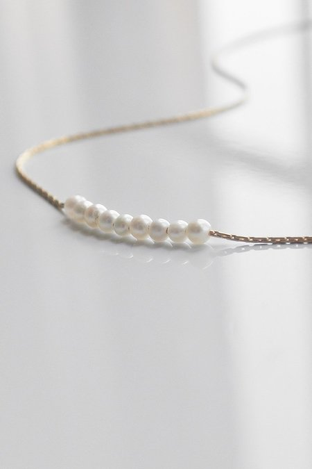 Thatch Marli Pearl Necklace - Gold