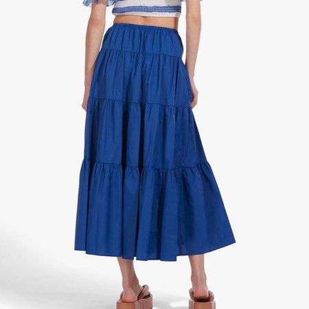 Staud Lucca Skirt - Cobalt