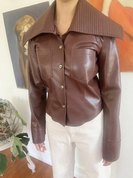 [Pre-loved] Nanushka Kiara Jacket W Tags - Plum