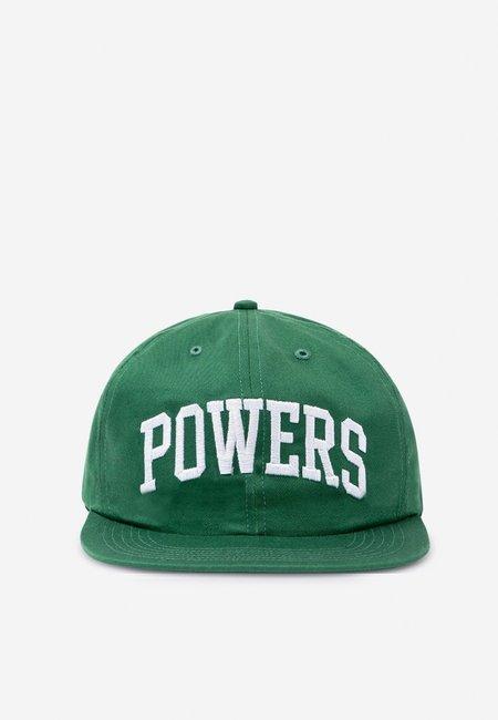 Powers Arch Logo 6 Panel Cap - green/white