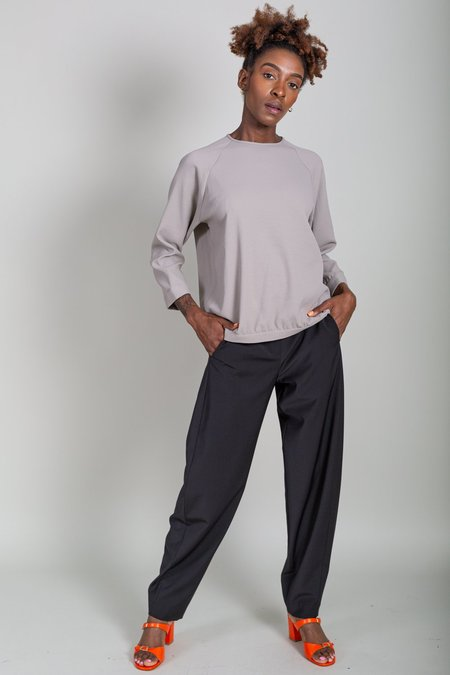 Tibi Chalky Drape Sweatshirt - Mink