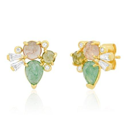 Tai Cluster Stud Earrings - Gold