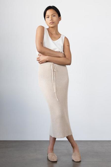 Wol Hide Rib Knit Skirt - Sand