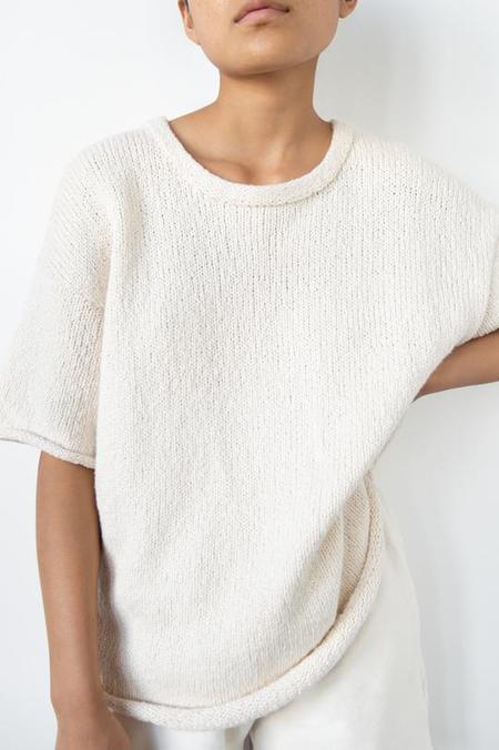 Wol Hide Loose Pullover - Ecru