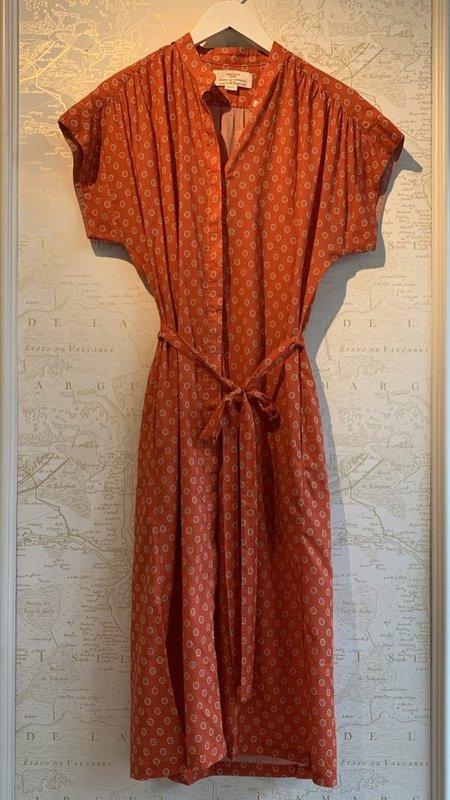 Trovata Astrid Midi Dress - Adobe Medallion Print