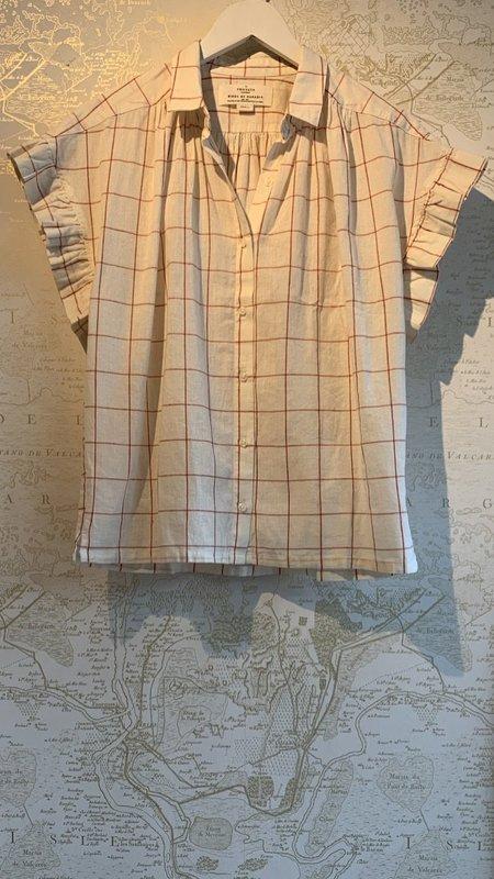 Trovata Marianne B Ruffle Sleeve Shirt - Natural/Tan