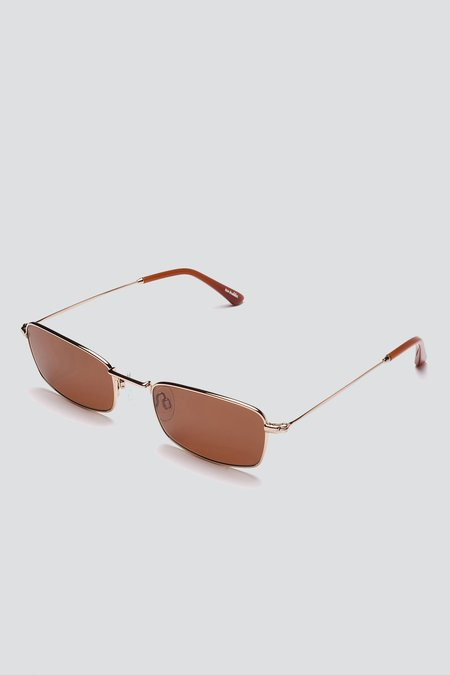 Sun Buddies Metal E-40 Sunglasses - Gold/Brown