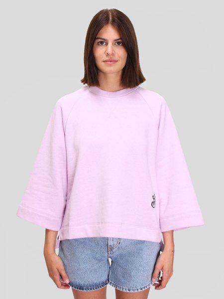 Ganni Isoli Oversized Raglan Sweatshirt - Orchid Blossom