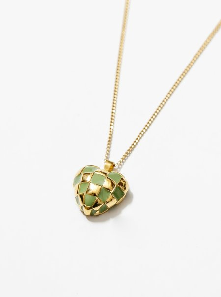 Wolf Circus Georgia Necklace - Green/Gold