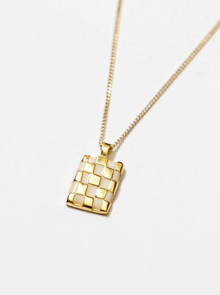 Wolf Circus Penny Necklace - Gold/Cream