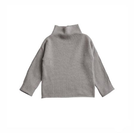 KIDS Belle Enfant Funnel Neck Sweater - TRUFFLE