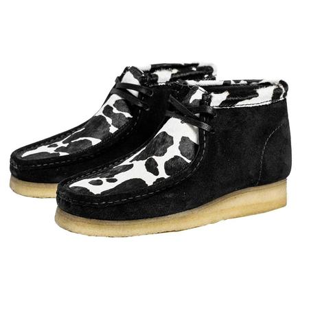 Clarks Wallabee Boot - Black Cow Print