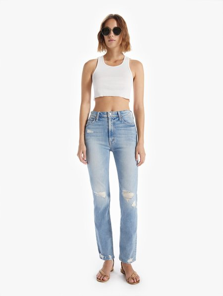 Mother Denim The High Waisted Rider Skimp Jeans - The Confession