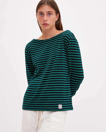 Gelsomina Cotton  T-Shirt - Blue/Bandiera