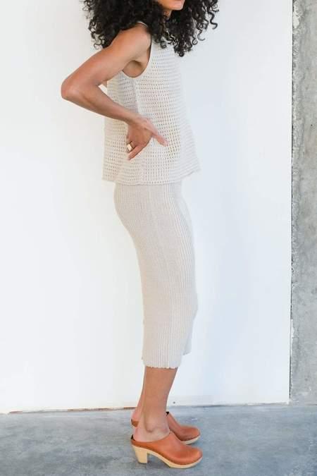 Wol Hide Rib Skirt - Sand