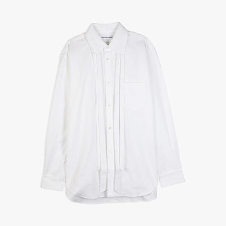 COMME des GARÇONS Cotton Piqué Poplin Shirt - White