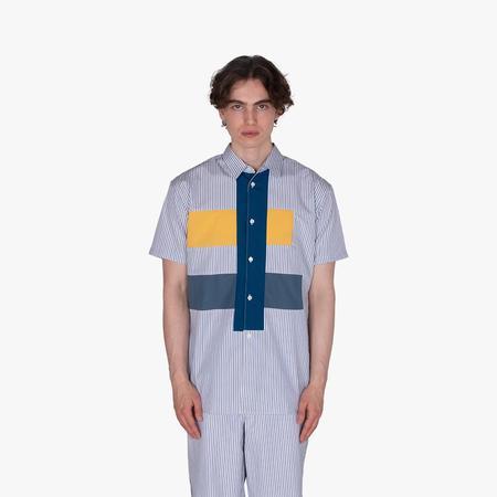 COMME des GARÇONS Poplin Stripe Shirt - blue