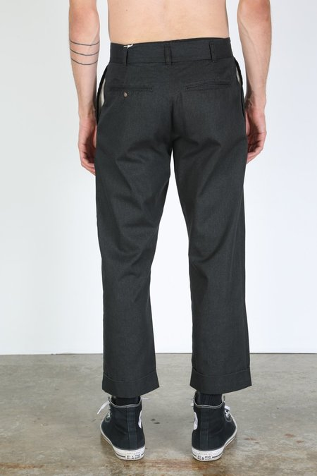 FUJITO WIDE SLACKS trousers - black