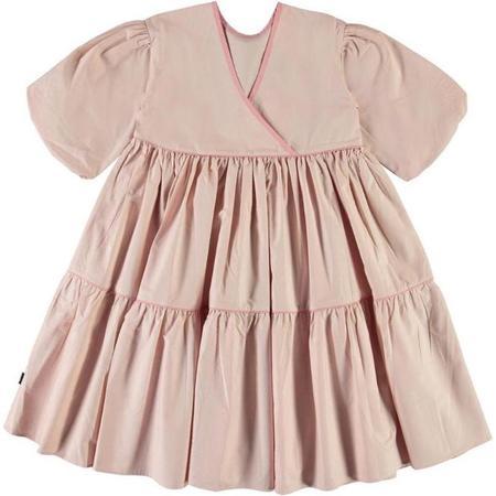 Kids Molo Casta Short Sleeve Dress - Petal Blush
