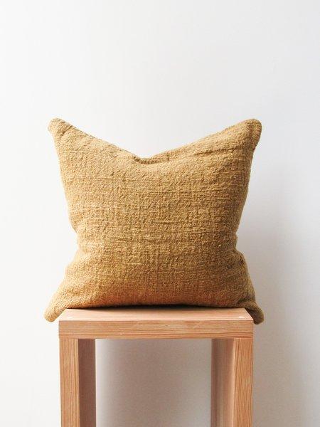 at Dawn. Herb Dyed Pillow Case - Mustard